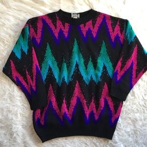 80's / 90's oversized sweater vintage butterfly